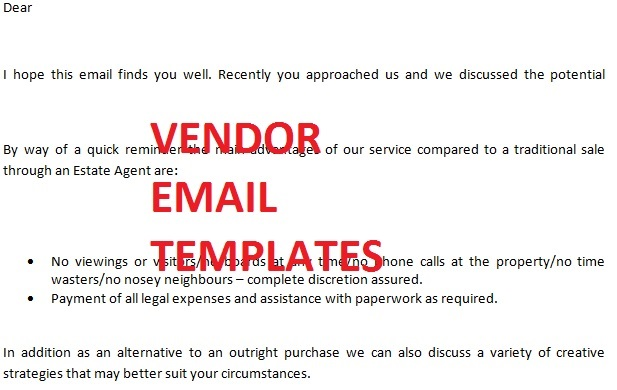 vendor template